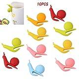 Aeromdale 10pz in silicone a forma di lumaca tazza supporto bustina di tè per appendere Tea Bag, Wine Glass Marker charms