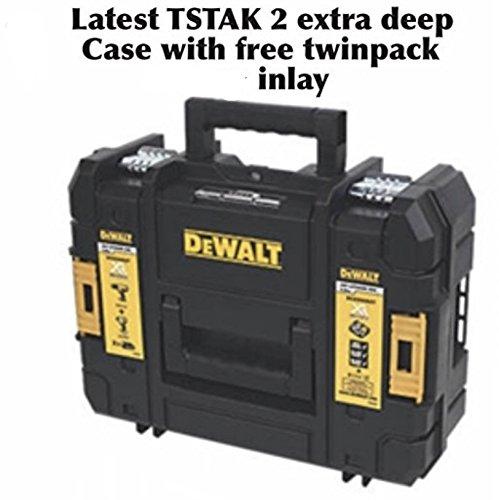 Funda de transporte original resistente DeWalt TSTAK II con incrustaciones premoldeadas diseñada para el DCD795 + 2 baterías y kit de carga.Se adapta a taladros y controladores de impacto/llaves, incluyendo modelos DCD795, DCD785, DCD780, DCF895, DCF...