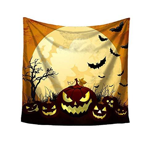 Qiusa Halloween-Druck-Quadrat-dekorativer Tapisserie-Strand-Wurfs-runder Tuch-Yoga-Matte (Farbe : K)