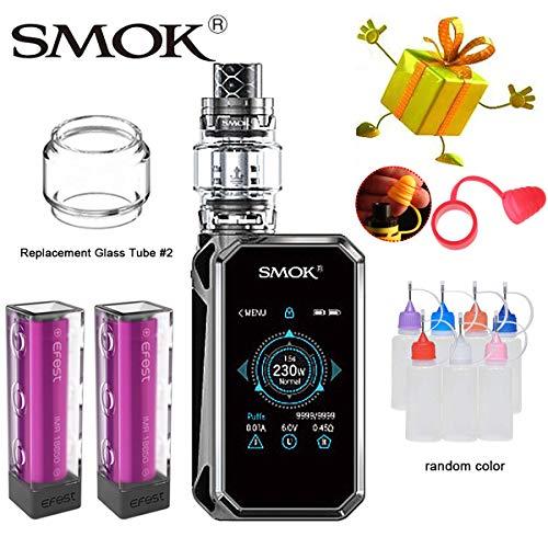 E Zigarette, Authentisch Smok 230w G Priv 2 LUXE Edition Kit mit Touchscreen, Ohne Nikotin, Ohne Flüssigkeit (Prisma Gunmetal) -