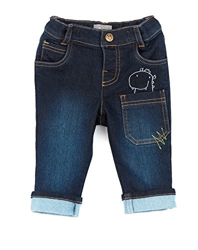 Sigikid Baby-Jungen Jeanshose Jeans, Blau (Indigo 212), 86