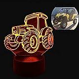 Lampada Da Tavolo Con Decorazione A Diapositiva Di Luce Notturna 3D Lampada Da Tavolo A 7 Colori Cambia Tappetino Da Spiaggia Per Auto Per Bambini Tavolo Da Auto Lava Per Bambini Regalo Di Natale