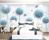 YUANLINGWEI Kreative Wanddeko, einfache Blume, Löwenzahnmotiv, Motiv Ziegelsteine, Modell Wohnzimmer, Fernsehzimmer, Sofa, Leinwand, Wand, Malerei, Tapete