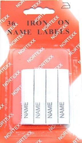 Nortexx - Etichette per abiti termoadesive, bianco