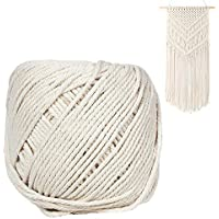 Zhuotop - Cordón de macramé de 3 mm x 100 m de algodón Natural Virgen para 56850cdef1c