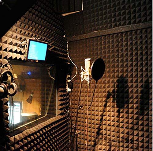 kdjshhs Wandaufkleber Akustikschaumplatte Sound Stop Absorption Schwamm Studio Schalldichte Keilfliesen Polyurethanschaum Ktv Wallpaper Decor 25X25X5 cm