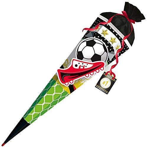 ROTH 651010 3D Schultüte Fußball Star 80 cm, eckig, Filz