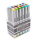 Brushwork Sketch Marker Pen 24 Colors Set Artist Necessary , FINECOLOUR by CYD