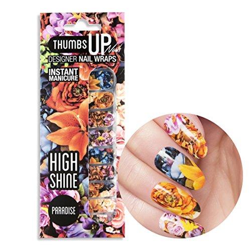 ThumbsUp Nails - Paradisblumen-Nagelfolien 20 Folien / Packung