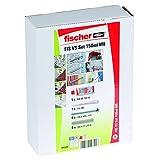 Fischer 542404 Schwerlast-Befestigungsset FIS VS 150ml, Gewindestange M 8, Siebhülse, 10 Teile