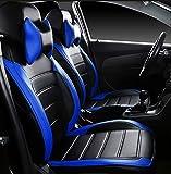 #10: FRONTLINE Platinum Series Black Blue PU Leather Car Seat Cover For Maruti Baleno