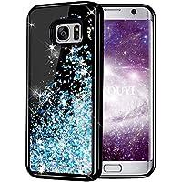 bcb87318208 Funda Galaxy S7 Edge,KOUYI Brillo Liquida 3D Bling Cubierta Flowing Liquid  diseño creativo Arenas