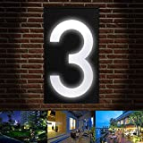 LED Solarenergie Led Beleuchtung Türschild Lampe Wandleuchte LED Haus Nummer Villa Garten Licht