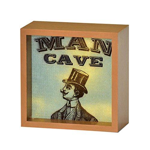 Man Cave Light Up Leuchtpult Geschenkidee freistehend Box mit LED-Lichtern
