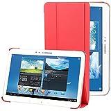 Rojo Pu Leather Stand Funda Case Para El Samsung Galaxy Tab 4 10.1 T530