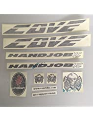 Cove Handjob XC Replacement Frame Decal Kit Sticker Black Pre 2010