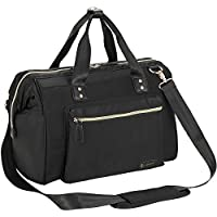 Baby Changing Bag, RUVALINO Large Nappy Bags with Changing Pad and Insulated Pocket For Mom & Dad (Black)