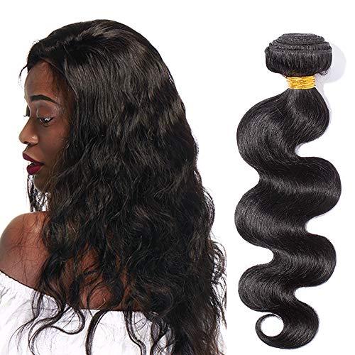 Extension capelli veri tessitura mossi indiani 100g virgin human hair 1 bundle nero naturale fascia unica 100% remy body wave 10
