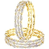 YouBella Bangles for Women Stylish Traditional Casual Party American Diamond Bangles for Women and Girls