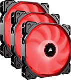 Corsair AF120, Air Series, 120mm LED Ventilateur Silencieux - Rouge (Pack Triple)