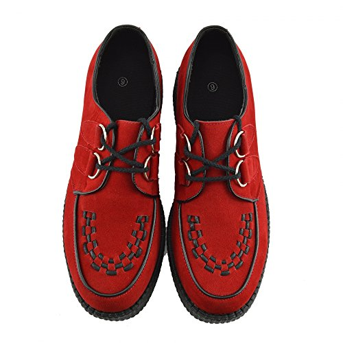 Creepers pour homme fashion noir Appartements robe formelle Chaussures Rouge