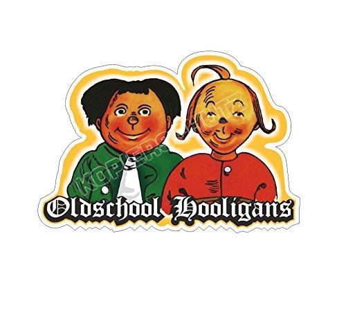 Oldschool Hooligans Aufkleber Sticker (10cm)
