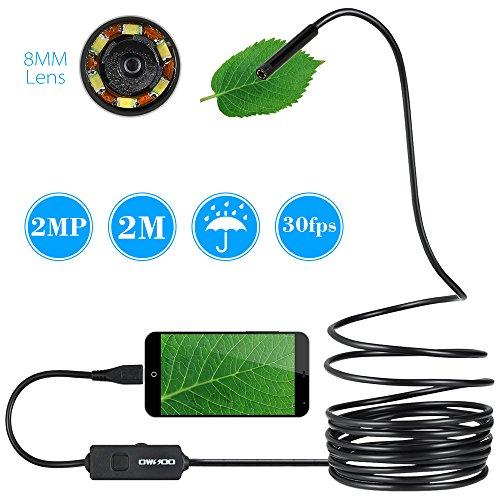 OWSOO 2,0MP Endoscopio HD 8MM Lente 720P Endoscope IP67 Impermeabile