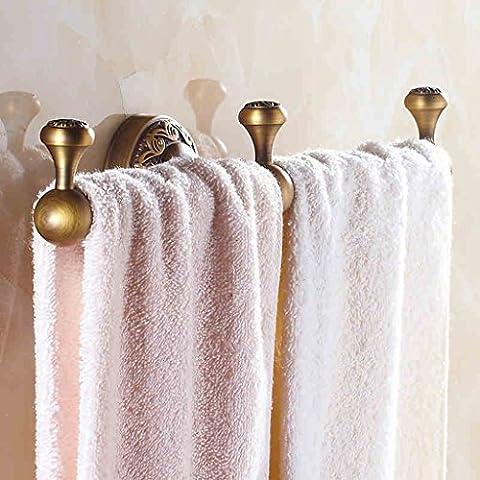 LightSeiEU- Antike Badezimmer Europäische Stil Handtuchhalter Schlafzimmer Handtuch Bar Alle Bronze Bronze Single Shot Bad Badezimmer Anhänger