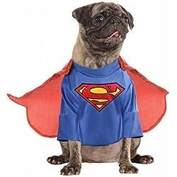 Animal Perro mascota o gato Superman Ropa SUPERHÉROE REGALO de Navidad Fiesta De Halloween Disfraz XS-XL - Large