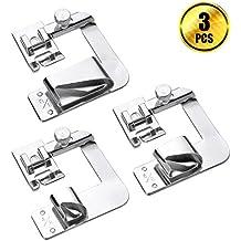 """wxj133tamaño (1"""", 3/4"""", 1/2"""") Rolled dobladillo prensatelas para ajuste para la mayoría de bajo filo Máquinas de Coser"""