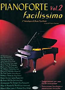 CARISCH PARTITION VARIETE - CONCINA FRANCO - PIANOFORTE FACILISSIMO VOL.2 - PIANO, CHANT Partition variété, pop, rock... Variété internationale Piano chant