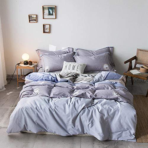 SHWOOT Cotton Vierteilige Bettwäsche Übergroße Bettbezug Bettwäschebedarf GV8 1,8 m