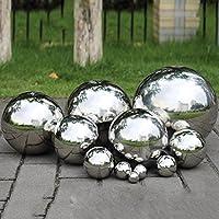 Prokth 304stainless steel Gazing balls, hollow Ball Globes Floating Pond palle Seamless Mirror Ball Sphere per casa giardino decorazione ornamento, Acciaio inossidabile, Silver, 200 mm