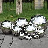 Prokth Spiegelkugel aus 304er-Edelstahl, schwimmende Hohlkugel für den Teich, Dekoration für Heim und Garten, edelstahl, silber, 19 mm