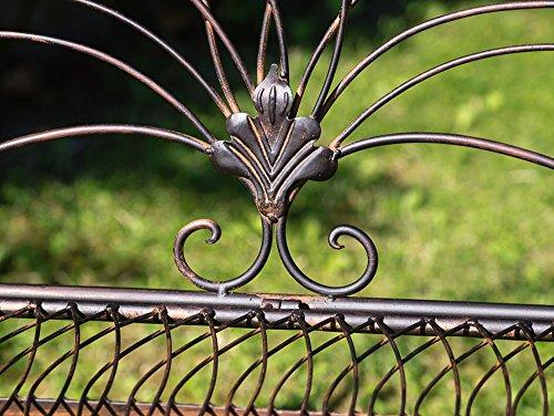 Nostalgische Gartenbank Vogel Eisen Metall Bank Nostalgie antik Stil Vögel - 4