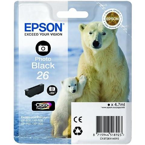 Epson C13T26114010 - Cartucho de tinta, negro