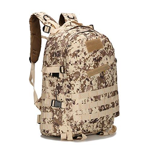Wasserdichte Oxford Mountaineering Bag Outdoor Rucksack mann Taschen Umhängetaschen camouflage Sport Rucksack 46 * 33 * 18 cm, Python stria Schlamm Farbe Wüste Digital