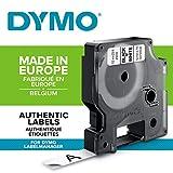 Dymo D1 Etichette Autoadesive per Stampanti LabelManager, Rotolo da 12 mm x 7 m, Stampa Nero su Bianco