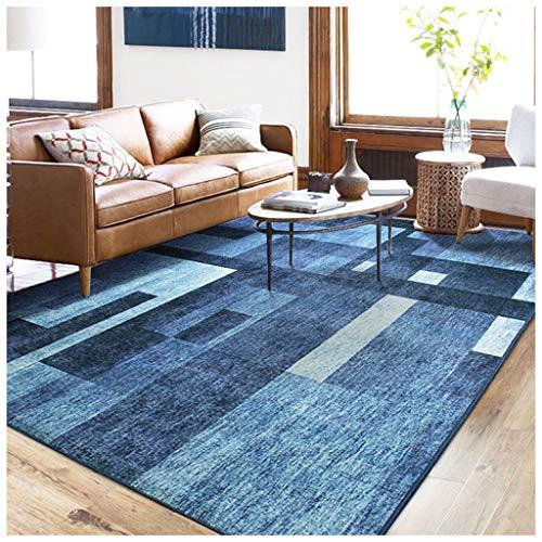 SCM Alfombras Nordic Carpet Summer Cool Thin Simple Moderna Sala de Estar Mesa de Café Dormitorio Mat Patrón Irregular Rectangular Antideslizante Alfombra de Noche (tamaño : 140x200cm)