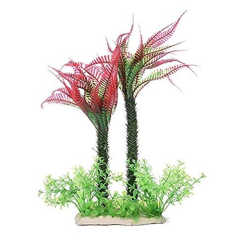 zaote Beautiful 30cm Künstliche Kunststoff Pflanzen Coconut Palm Ornaments Fisch Tank Aquarium Deko Pflanzen Teich