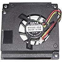 mulfan 6cm hy50C-05a 5V 0.13A 3Cavo di SEPA Square Fan