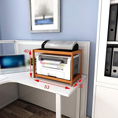 IG Lagerregal Geeignet für die Küche Home Office Wohnzimmer , Regal 2-Tier Massivholz Moderne Boden Mobile Lagerregal Gedruckte Rack-Kopierer-Halterung,Aktualisierung,53cm - Multifunktions Office-kopierer