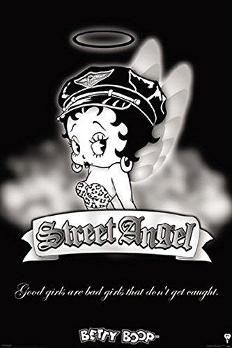 Betty Boop - Street Angel - Poster Comic Zeichentrick Boop Betty - Grösse 61x91,5 cm + 1 Ü-Poster der Grösse 61x91,5cm (Boop-street Angel Betty)