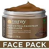 Nuray Naturals Vegan Anti Acne Chocolate Face Pack for Skin Glow, 50 g
