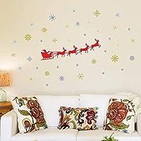 "Wallflexi Christmas Decorations Wall Stickers "" Santa"