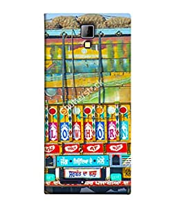 PrintVisa Designer Back Case Cover for Micromax Canvas Xpress A99 :: Micromax A99 Canvas Xpress (Truck Art Blow Horn Use Dipper at Night Roads Tough Sturdy )