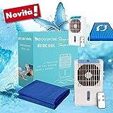 Dogshore Materassino Lettino Rinfrescante Refrigerante (Menopausa) con Pompa ad Acqua e Ventola Ionizzatore (160x60 cm.)