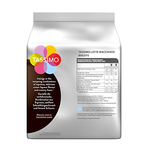 Buy Tassimo Latte Machiatto Baileys Coffee Capsules, Pack of 5 by JDE