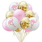 knowing 12 Zoll Feuervogel Gold Konfetti Latex Ballons, Graduierung, Hochzeiten, Geburtstage, Hawaii Party Dekorationen (1 Packung mit 15)
