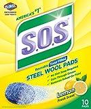 S.O.S. Steel Wool Soap Pads, Lemon Fresh, 10 Count (Pack of 6)